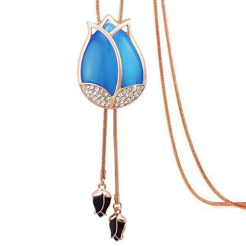 Affordable MY - 0009 Tulip Opal Sweater Chain Long Necklace
