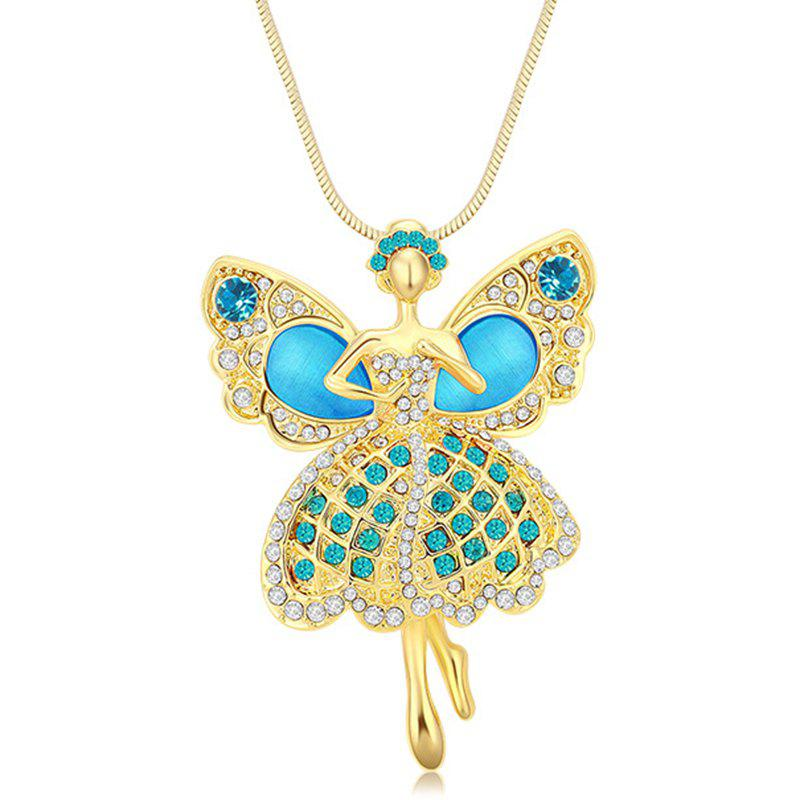 Best MY-0013 Angel Opal Sweater Chain Long Necklace
