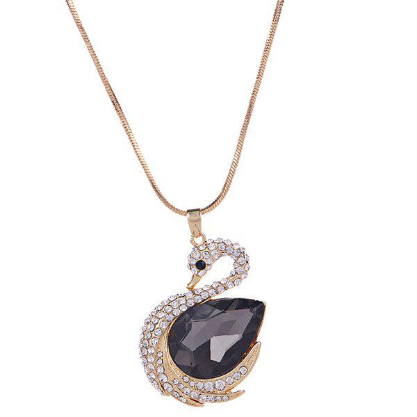 Discount MY - 0015 Swan Crystal Sweater Chain