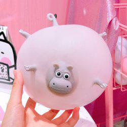 Blowable Animal Vent Toy Hippo Chick Elephant Pinch Decompression Gadgets -
