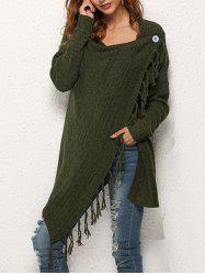European American Women's Tassel Sweater Cardigan -