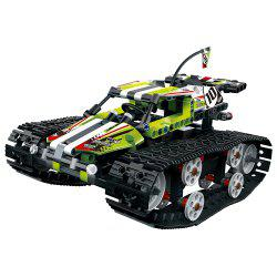 13023 DIY Assembled Electric Tracked High Speed Car Toy -