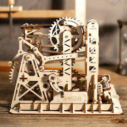 Robotime Creative Wood Crafts Difficult to Assemble Three-dimensional Block Toys -