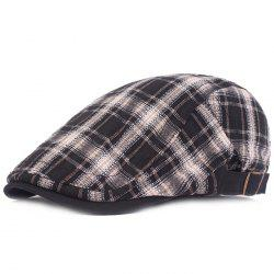 Plaid Cloth Literary Youth College Wind Forward Cap -