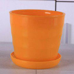 Medium Size Idyllic Candy Color Series Thread Resin Flower Pot with Tray -