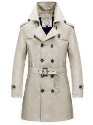 Printemps et automne coupe-vent trench-coat à double boutonnage -