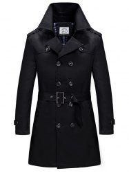 Spring and Autumn Double-breasted Trench Coat Windbreaker -