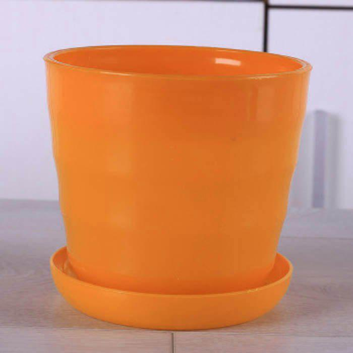 Sale Medium Size Idyllic Candy Color Series Thread Resin Flower Pot with Tray
