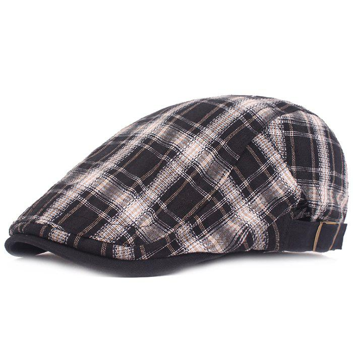 Sale Plaid Cloth Literary Youth College Wind Forward Cap