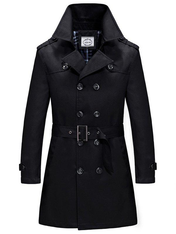 Latest Spring and Autumn Double-breasted Trench Coat Windbreaker