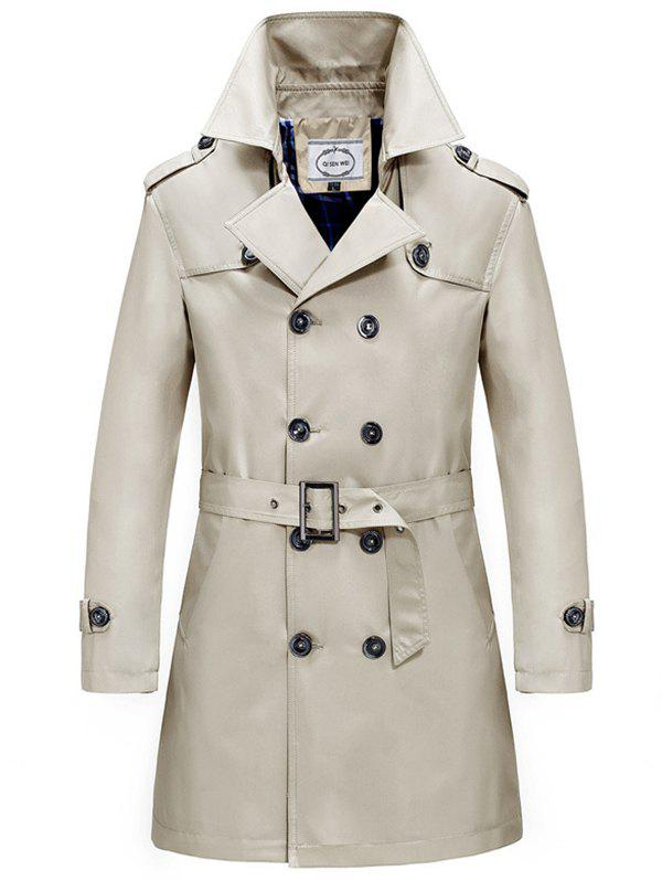 Printemps et automne coupe-vent trench-coat à double boutonnage