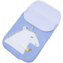 Baby Unicorn Plus Velvet Knit Warm Sleeping Bag -