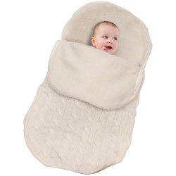 Baby Plus Velvet Thick Knit Warm Sleeping Bag -