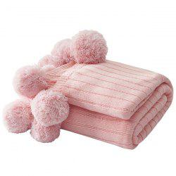 Knitted Air-conditioning Blanket Pear-simplified Ball Carpet -
