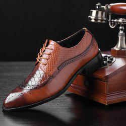Men's Leather Shoes Bullock Carved Pointed Personality -