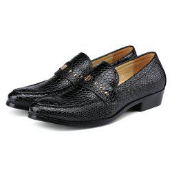 Men's Leather Shoes Business Casual Low-top Trend Snakeskin Pattern -