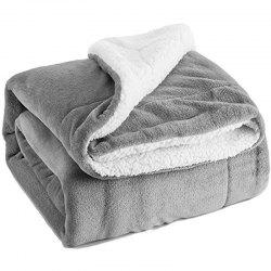 130cm x 160cm Sherpa Lambskin Blanket Thick Double-layer Flannel Blanket -