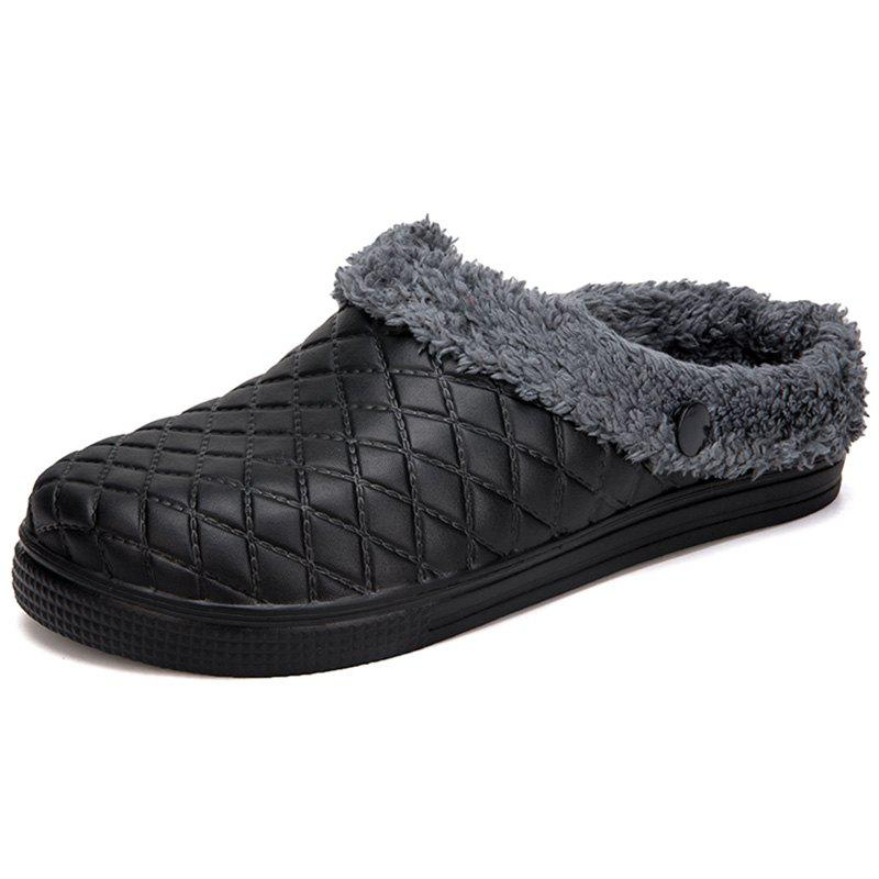 Cheap Plush Warm Indoor Slippers for Men