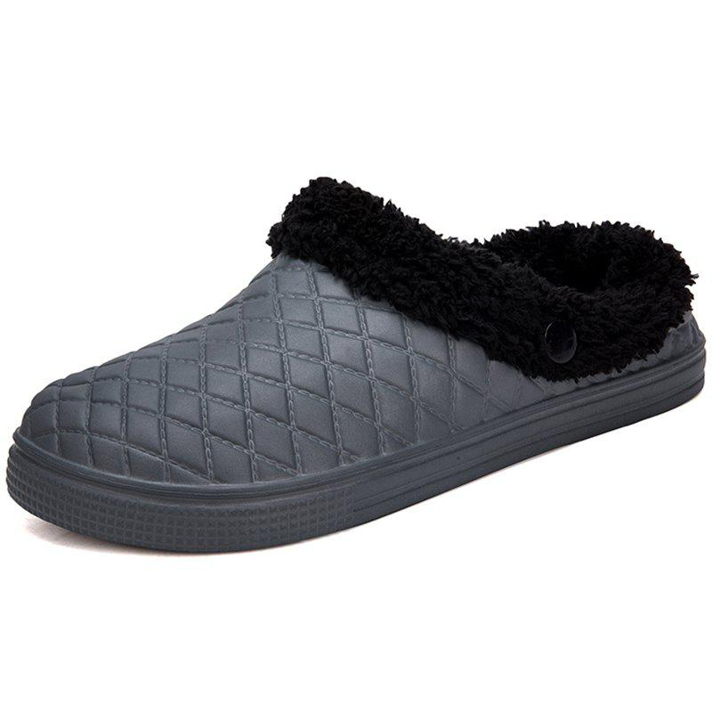 New Plush Warm Indoor Slippers for Men