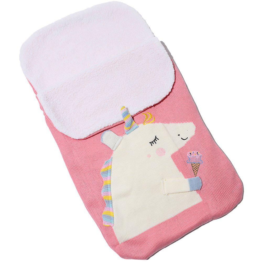 Shop Baby Unicorn Plus Velvet Knit Warm Sleeping Bag
