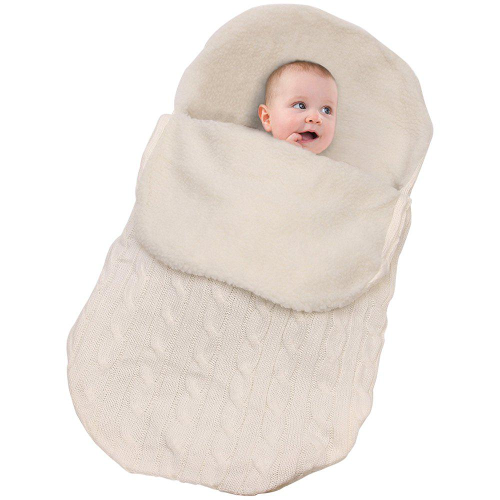 Online Baby Plus Velvet Thick Knit Warm Sleeping Bag