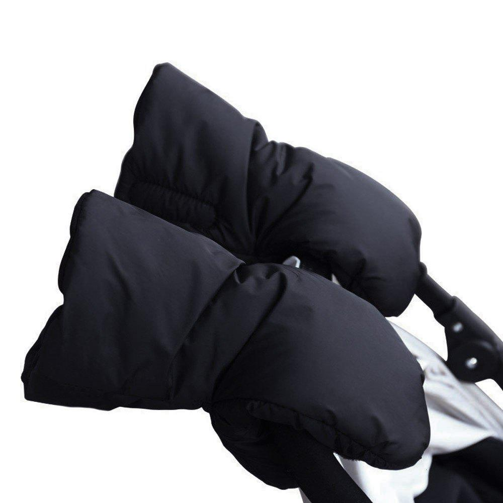 New Warm Windproof Antifreeze Protection Plus Velvet Padded Cotton Baby Stroller Gloves