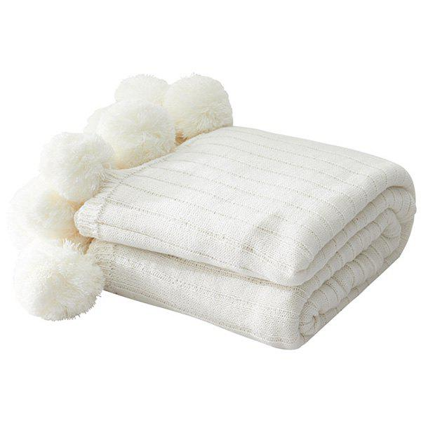 Trendy Knitted Air-conditioning Blanket Pear-simplified Ball Carpet