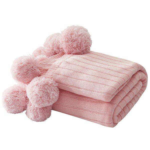 Best Knitted Air-conditioning Blanket Pear-simplified Ball Carpet