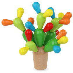 Wooden Ball Cactus Blocks Disassembly for 3-5 Years Old Kids Early Education Teaching Aids -
