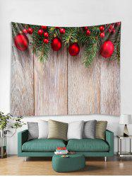 Wooden Christmas Ball Pattern Tapestry Art Decoration -