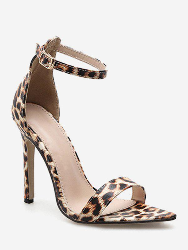d1162f1e226b Fashion Ankle Strap High Heel Leopard Sandals