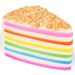 3 - P4212 High Simulation Scented Rainbow Triangle Cake Squishy Toy -