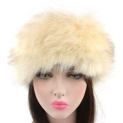 Winter Lady Warm Faux Fur Grass Headband Hat 1PC -