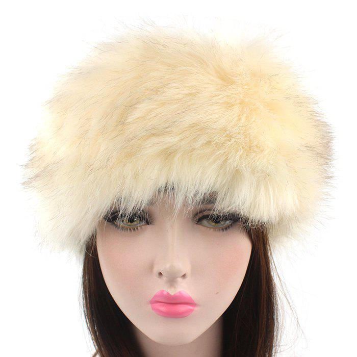 Store Winter Lady Warm Faux Fur Grass Headband Hat 1PC