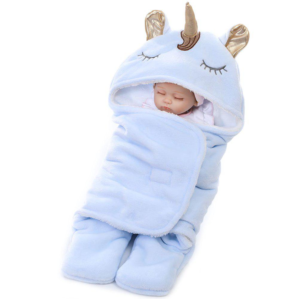 New Winter Double Flannel Unicorn Baby Thick Warm Blanket