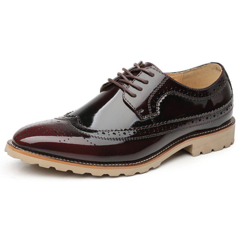 Sale Men Casual Carved Retro Leather Shoes Business