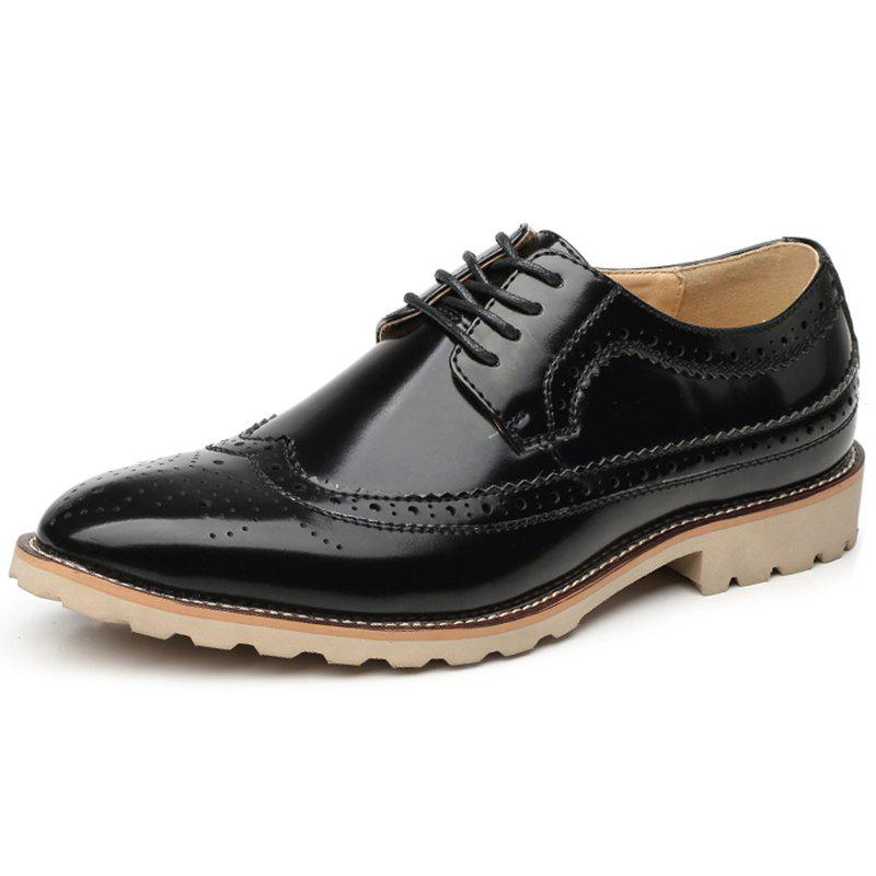 Fancy Men Casual Carved Retro Leather Shoes Business