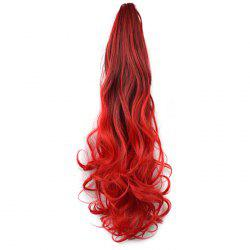 Color Gradient Claw Style Ponytail Invisible Seamless Vintage Big Wave Long Curly Clips -