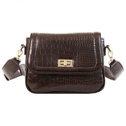 58 - 10272 Chain Portable Small Bag Female Fashion Pattern Wide Shoulder Messenger Bag -