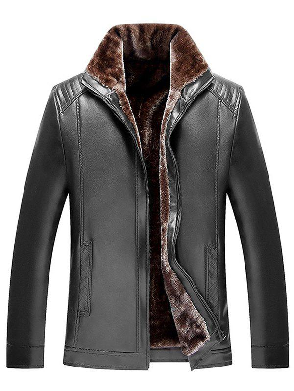 Discount 806 - 713B Leather Men Velvet Thick Warm Jacket