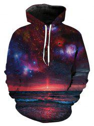 Hoodie Homme Mode Jeunesse Sauvage 3D Galaxy Style -