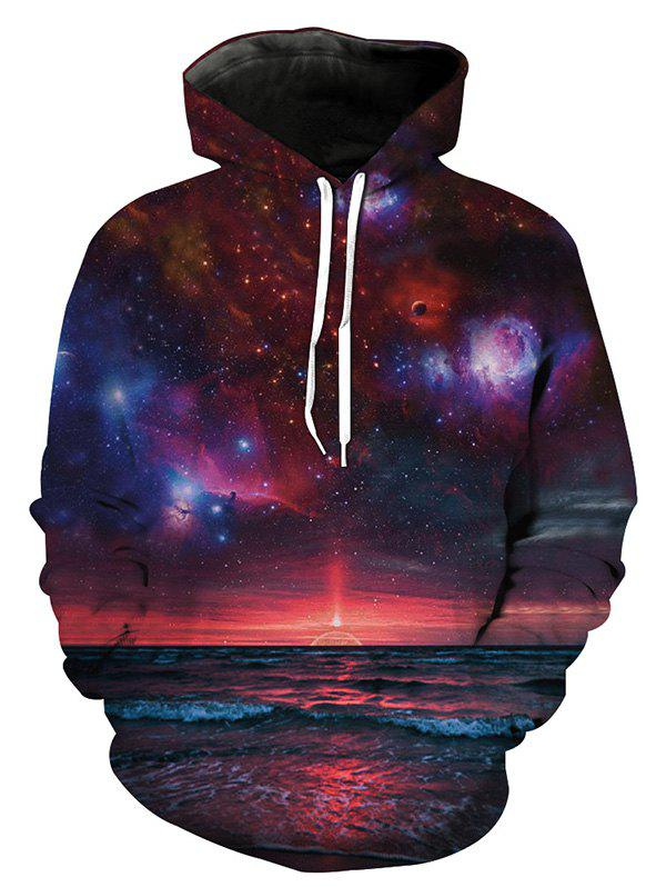 Hot Men's Hoodie Fashion Youth Wild 3D Galaxy Style