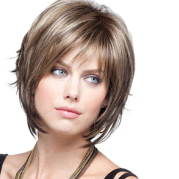 Sale Ladies Fashion Realistic High Temperature Silk Short Wig