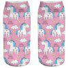 3D Unicorn Print Women's Socks -