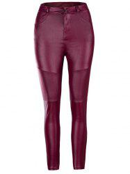 Women's Pants Tight Stretch Fold Leather -