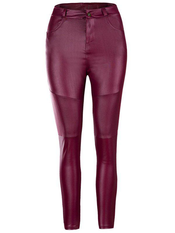 Outfits Women's Pants Tight Stretch Fold Leather