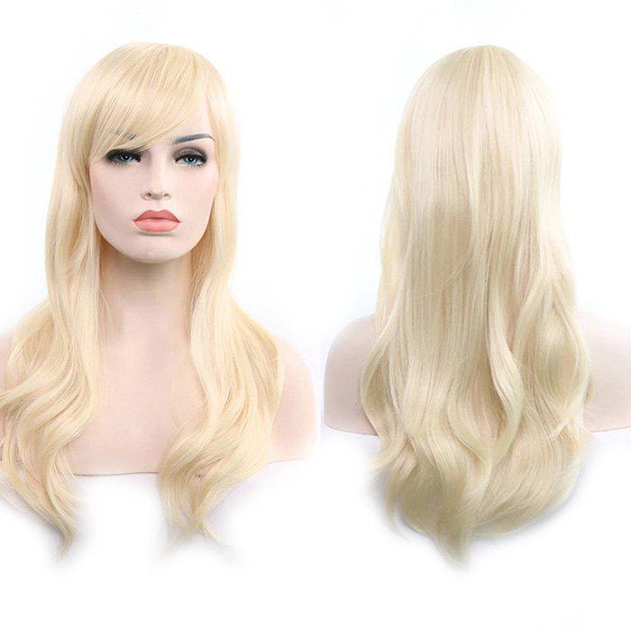 Anime Europe America 70cm Longs Cheveux Frisés Blonde
