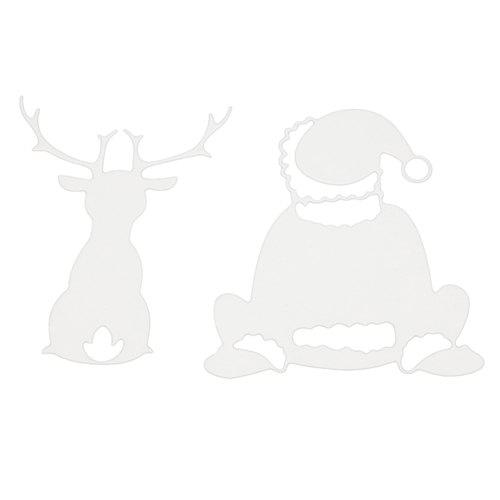 Outfits 1804714 Carbon Steel Santa Claus And Deer Cutting Die