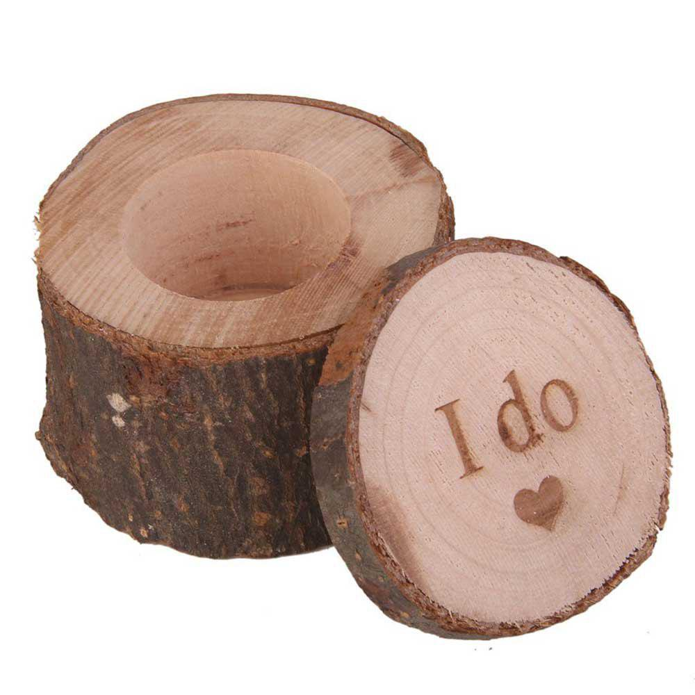 Trendy JM00273 Wood Beautifully Lettering Wedding Supplies Ring Box
