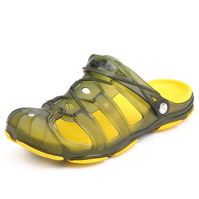 Store Environmentally Friendly Super Soft Jelly Half Slippers for Men
